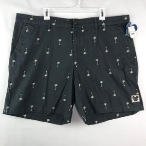Junk Food Disney Mens Shorts Gray Palm Tree Mickey
